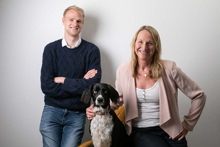 Jamie, Lesley and Pippa Anderson - Hedgerow Marketing Exeter